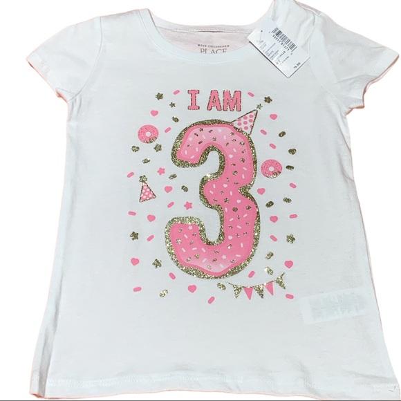 Children's Place Baby Toddler I am 3 T-shirt Sz 3T